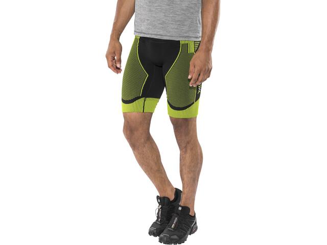 X-Bionic Effektor Running Power Pants short Herren black/yellow